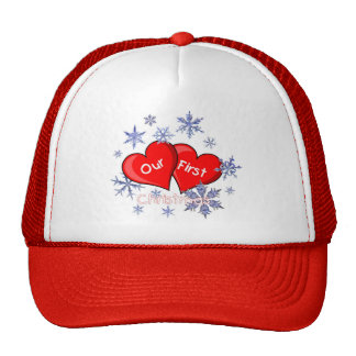 Our First Christmas Trucker Hat