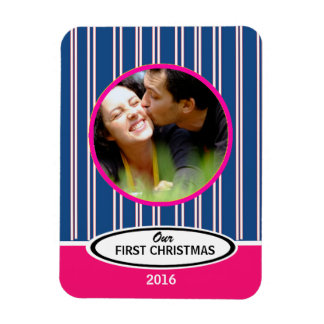 Our First Christmas Holiday Keepsake Photo Magnet