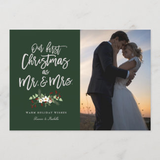 Our First Christmas In Green Holiday Photo Card