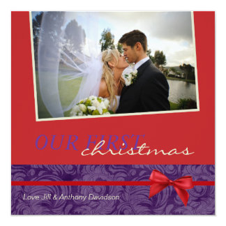 Our First Christmas Invitations Photocards