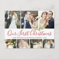 Our First Christmas Married Holiday 7Photo Collage