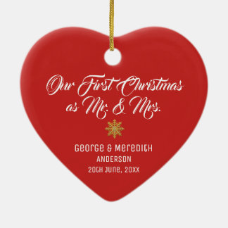 Our First Christmas Married Mr. & Mrs. Ornament