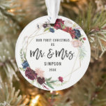 """Our First Christmas Mr & Mrs 