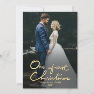 Our First Christmas Mr. & Mrs. Holiday Photo Card