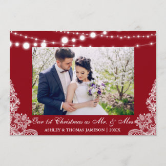 Our First Christmas Mr. & Mrs. Photo Card RB