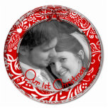 "Our First Christmas Ornament RED<br><div class=""desc"">See more Christmas Designs by Sandra  