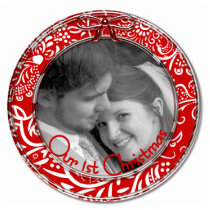 Our First Christmas Ornament RED