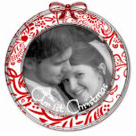 Our First Christmas Ornament RED Cut Out