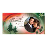 Our First Christmas Photo Card Template