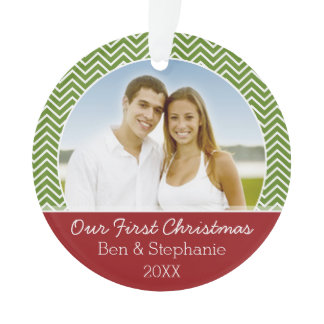 Our First Christmas Photo - Double-Sided Ornament