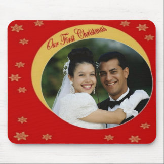 Our First Christmas Photo Frame Mousepad