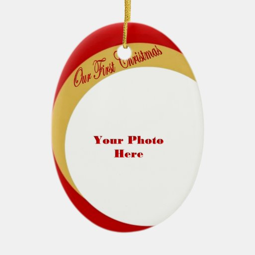 Our First Christmas Photo Frame Christmas Ornaments