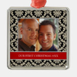 Our First Christmas Photo Holiday Ornaments