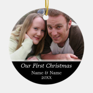 Our First Christmas Photo - Single Sided Ornaments