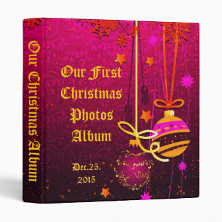 Our first Christmas photos Album 3 Ring Binder