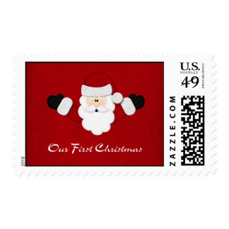 Our First Christmas Postage Stamp