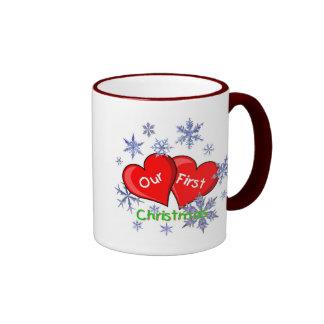 Our First Christmas Ringer Mug