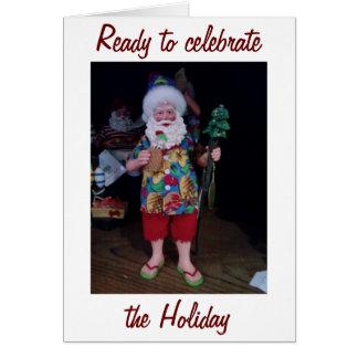OUR FIRST CHRISTMAS-SANTA BRINGS THE MISTLETOE CARD