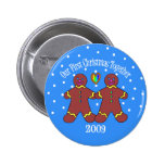 Our First Christmas Together 2009 (GLBT Men) Pinback Buttons