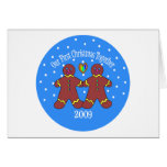 Our First Christmas Together 2009 (GLBT Men) Greeting Card