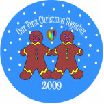 Our First Christmas Together 2009 (GLBT Men) Photo Cut Out