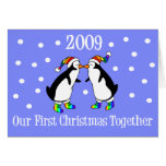 Our First Christmas Together 2009 (GLBT Penguins) Card