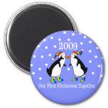 Our First Christmas Together 2009 (GLBT Penguins) Refrigerator Magnet
