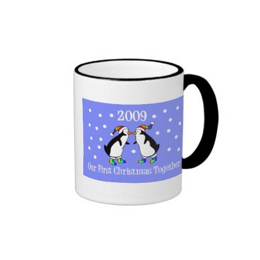 Our First Christmas Together 2009 (GLBT Penguins) Coffee Mug