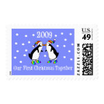 Our First Christmas Together 2009 (GLBT Penguins) Stamps