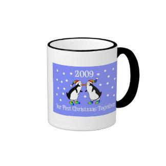 Our First Christmas Together 2009 (GLBT Penguins) Ringer Mug