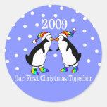 Our First Christmas Together 2009 (GLBT Penguins) Sticker
