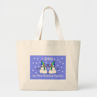 Our First Christmas Together 2009 (GLBT Snowmen) Tote Bag