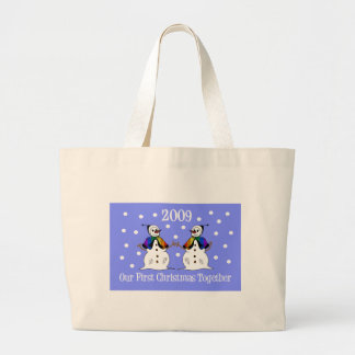 Our First Christmas Together 2009 (GLBT Snowwomen) Canvas Bags