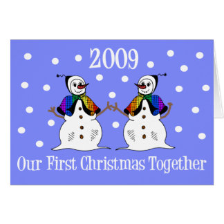 Our First Christmas Together 2009 (GLBT Snowwomen) Card