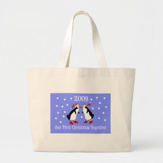 Our First Christmas Together 2009 (Penguins) Tote Bag