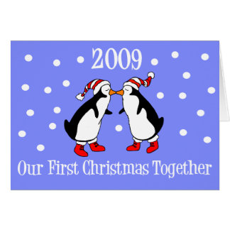 Our First Christmas Together 2009 (Penguins) Card
