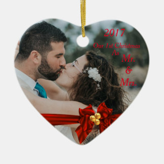Our First Christmas Together 2017 Ceramic Ornament
