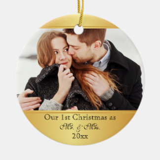 Our First Christmas Together Custom Ceramic Ornament