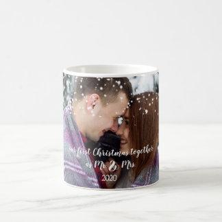Our First Christmas Together Custom Photo Mug