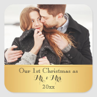 Our First Christmas Together Custom Square Sticker