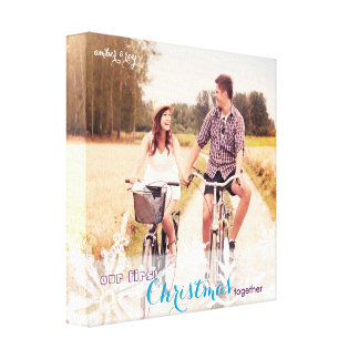 Our First Christmas Together Holiday Photo Canvas Print