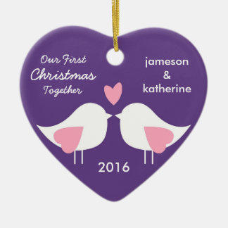 Our First Christmas Together Love Birds Ornament