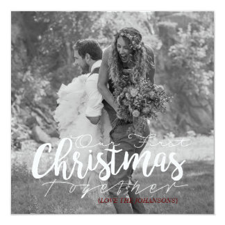 Our First Christmas Together | Modern Photo Card