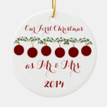 Our First Christmas Together Double-Sided Ceramic Round Christmas Ornament