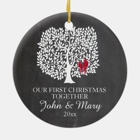 Our first Christmas together ornament, love birds Ceramic ...