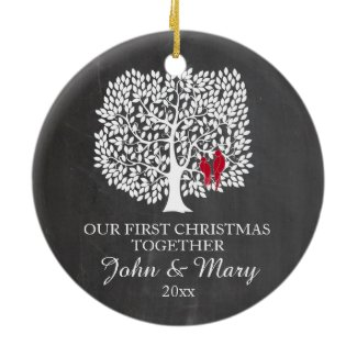 Our first Christmas together ornament, love birds