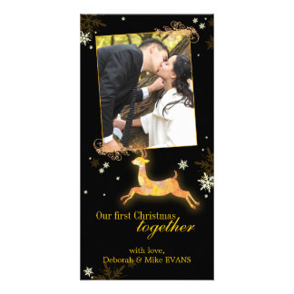 Our First Christmas Together Reindeer Photo Card