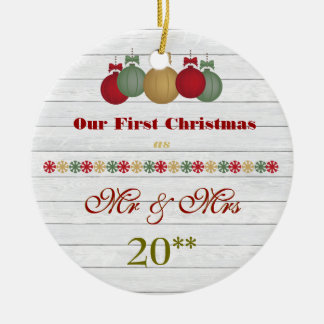 Our First Christmas Together Retro Ornament