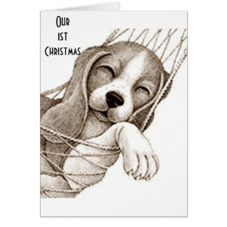 """OUR **FIRST** CHRISTMAS TOGETHER """"WHITE CHRISTMAS"""" CARD"""