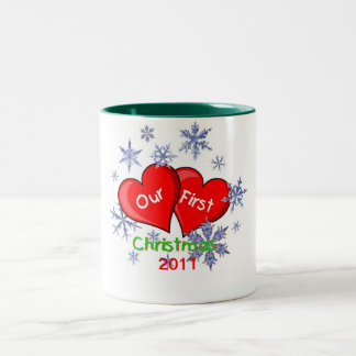 Our First Christmas Two-Tone Coffee Mug